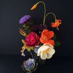 The Cobra Lily paper flowers