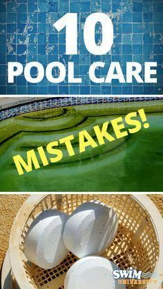 Pool care entails a lot of little details. It's easy to forget one or two of them from time to time. Luckily, all pool maintenance mistakes are fixable. Pool Cleaning Tips, Household Cleaning Tips, Spring Cleaning, Cleaning Hacks, Deep Cleaning, Do It Yourself Pool, Piscine Diy, Swimming Pool Maintenance, Pool Hacks