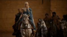 """So Daenerys just gives zero f*cks about that whip, because whips are for bald sexists, and she has every strand of her beautiful blonde locks."" Ha!"