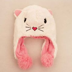 Autumn And Winter Velvet Thicken Animal Hats For Babies Cute Cats Kids Hats $15.00 #Lovejoynet #Animal #Hats