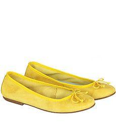 Sunny Ballerinas  #shoes #flats #yellow #fashion