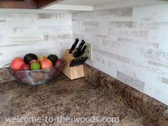A painted faux tile back splash that I created in my kitchen. A versatile and inexpensive way to try out a tile look for your kitchen back splash. Marble Painting, Faux Painting, Stencil Painting, Paint Backsplash, Kitchen Backsplash, Backsplash Ideas, Countertop, Best Gold Spray Paint, Paint Finishes