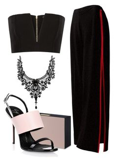 """#PolyPresents: Fancy Pants"" by mayaroger on Polyvore featuring Sans Souci, Balmain, STELLA McCARTNEY, Giuseppe Zanotti, contestentry and polyPresents"