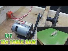 Table Saw - How to make Powerful Mini Table Saw - 12volt - Güçlü Tezgah testere yapımı - YouTube
