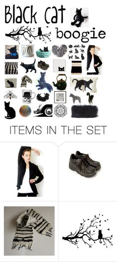 """""""Black cat boogie"""" by belinda-evans ❤ liked on Polyvore featuring art"""