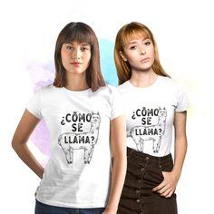 Funny Llama Shirt, Como se llama Shirt, Graphic Tees for Women, Shirts with Sayings, Womens Graphic Matching Couple Shirts, Couple Tshirts, Matching Couples, Family Shirts, Llama Shirt, Shark Shirt, Funny Shirts Women, Tees For Women, Funny Llama