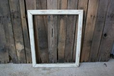 SUPER SALE Large White Vintage Shabby Chic Wooden Picture