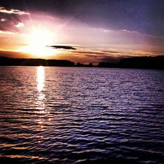#sunset #lake #sky Sunset Lake, Sky, Celestial, Instagram Posts, Outdoor, Heaven, Outdoors, Heavens, Outdoor Games