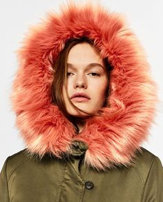 Image 4 of LONG COLOURFUL FAUX FUR COAT from Zara