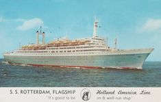 Postcards | Vrienden van stoomschip Rotterdam Holland America Line, Fort Lauderdale, Rotterdam, Vintage Posters, Ss, Postcards, Nautical, Automobile, Train