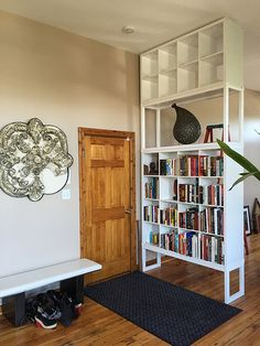 Ceiling Bookshelf bookcase-roomdivider | organizing, spaces and modern room