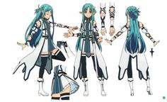 Asuna Character Design & Costume | SAO II New Aincrad - Blue Elf