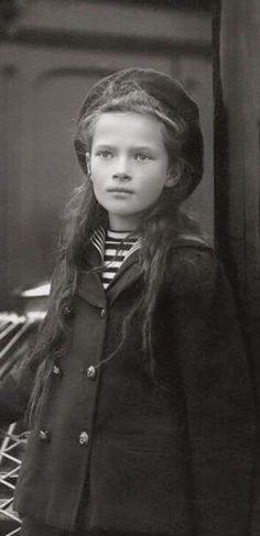 Close up picture of the Grand Duchess Tatiana Nikolaevna Romanova of Russia in…