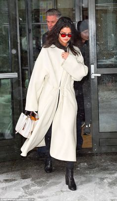 Smokin': Selena Gomez looked white hot as she was seen leaving her hotel in New York after a quick trip to the city