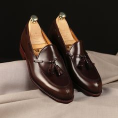 Tasseled Loafer Model # 734 Calf Marron