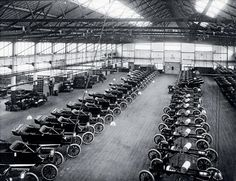 Ford model T Cars, Manchester, 1911
