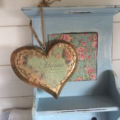handmade decoupage large heart Home decor by DottyCottage1 on Etsy