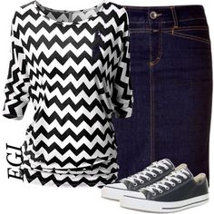 """Chevron Shirt..."" by isongirls on Polyvore"