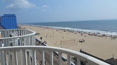 Oceanfront Balcony View @ Paradise Plaza Inn, 9th St & the Boards, Ocean City, MD 21842