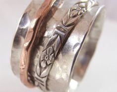 Handmade Patterned Silver Dangle Earrings by susanlambertdesigns