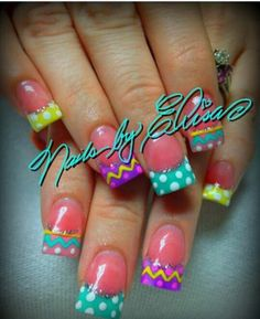 Easter nails Spring and Easter Easter Nail Designs, Easter Nail Art, Holiday Nail Designs, Holiday Nail Art, Nail Art Designs, Nails Design, Boxing Day, Spring Nail Art, Get Nails