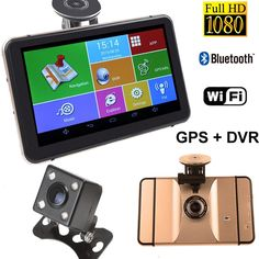 """89.29$  Watch now - http://alil5j.worldwells.pw/go.php?t=32791646279 - """"7"""""""" Car GPS Navigation DVR Recorder Camera Android 1080P 512MB 8Gb Vehicle GPS Navigator Sat Nav With Rear View Camera Free Maps"""" 89.29$"""