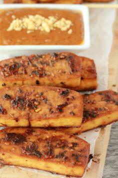 Crispy baked tofu sa