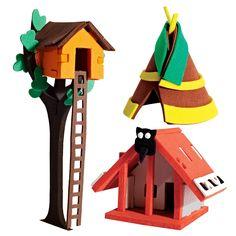 3D Houses: Treehouse, Teepee, Maori House