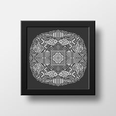 Chinese Traditional Folk Floral Fish & Cats Mandala is a cross stitch pdf pattern recreated from a museum piece which is believed to have been first created between in Western China. Originally embroidered with blue thread on unbleached linen. Embroidery Alphabet, Folk Embroidery, Embroidery Stitches, Cat Mandala, Mandala Pattern, Cool Patterns, Beautiful Patterns, Stitch Shop, Modern Cross Stitch