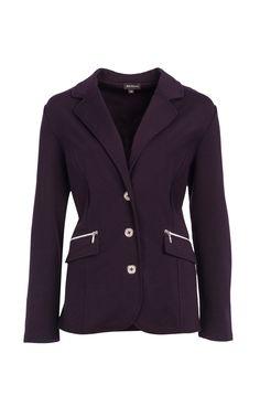 Jacket en tricot avec poche zippée.