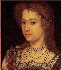 Penelope Devereux, great granddaughter of Mary Boleyn by lisby1, via Flickr  Penelope Rich, Lady Rich, later styled Penelope Blount, Countess of Devonshire (1562-7/7/1607).  She was considered one of the beauties of Elizabeth's court golden-haired with dark eyes, a gifted singer and dancer, fluent in French, Italian, and Spanish.