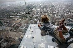 Highest Glass Floor of the World in Chicago USA