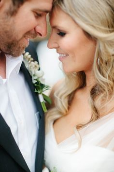 Great close up on bride and groom