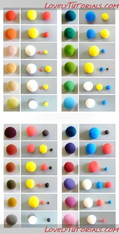 Таблица смешивания цветов- color mixing chart - Мастер-классы по украшению тортов Cake Decorating Tutorials (How To's) Tortas Paso a Paso