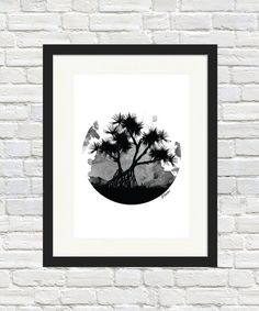 Pandanus Orb  Monochrome by BronwynHoustonArt on Etsy