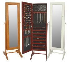 I own this jewellery cabinet/full length mirror and it is one of the most practical and awesome gifts I have been given to date.