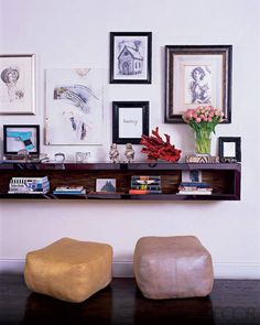 A display in designer Cynthia Rowley's living room