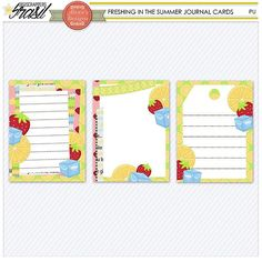 FREE Freshing In The Summer Journal Cards by Digiscrappers Brasil