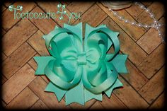 Aqua Hair Bow  4 inch  Boutique Hair Bow  petite by tootoocute4you