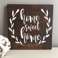 Home Sweet Home Sign - Rustic Wood Sign - Home Sweet Home - Entryway Decor - Fireplace Decor - Wood Sign - Mantle Decor by EastCoastChicagoan on Etsy https://www.etsy.com/listing/471032486/home-sweet-home-sign-rustic-wood-sign
