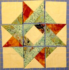 This is an awesome star block ready to sew together. Really like this