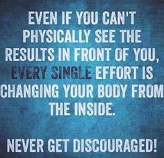 King of Fitness | Personal Training | Bishops Stortford | Even if you can't physically see the results in front of you, EVERY single effort is changing your body from the inside. Never get discouraged!                                                                                                                                                                                 More
