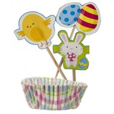 Easter Cupcake Decorations Kit - Pack of 24