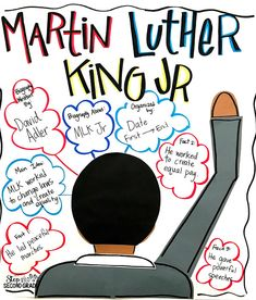 This week the students are learning all about biographies along with Dr. Today we broke apart the elements of a biography. As we were reading A Picture Book About Martin Luther King, Jr we cha Classroom Charts, Classroom Ideas, Anchor Charts First Grade, Biography Project, Trade Books, Organization Skills, Character Education, Martin Luther King, Writing Activities