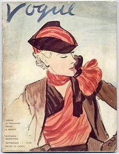 Vogue USA 1934 September 1st Eric, Autumn Shopping Vintage high ...