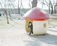 mushroom play house.  #kids #play #estella