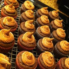 peanut butter chocolate cupcakes.