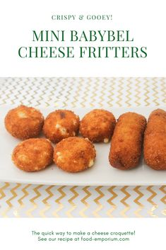 When you have babybel round cheese, you can Deepfry them with panko crust. Babybel Cheese Recipes, Cheese Snacks, Cheese Fritters Recipe, Vegetarian Tapas, Dutch Cheese, Best Cheese, Homemade Cheese, Other Recipes, Recipe Using