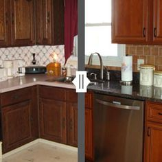 Check Out Our Kitchen Cabinet Refacing Gallery of Recent Makeover Projects From the Kitchen Saver Team. Refacing Kitchen Cabinets, Before After Kitchen, Cabinet, House, Kitchen, Home Decor, Kitchen Cabinets, Cabinet Refacing