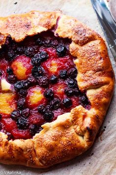 Yellow Plum and Blueberry Galette #pastry #pie